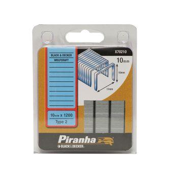 Black & Decker X70210 Flat Wire Staples 10mm Pack 1200 - B/DX70210