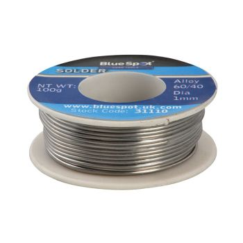 BlueSpot Tools Flux Covered Solder 100g 60/40 - B/S31110