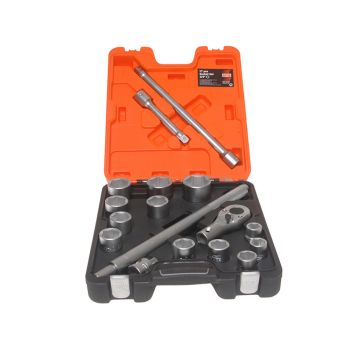 Bahco Socket Set of 17 Metric 3/4in Drive - BAHSLX17