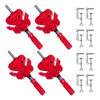 Bessey Angle Clamps Kit WS3 Quad Pack & 8 x TK6