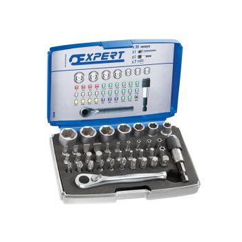 Expert 1/4in Bit Socket + Accessory Set 39 Piece - BRIE131705B