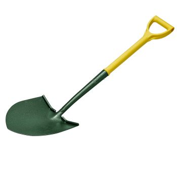 "Bulldog Round Mouth Shovel 28"" - No.2 - Polyfibre D Handle - Treaded - 5453022860"