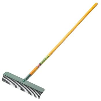 "Bulldog Wizard Rubber Rake 54"" - Hardwood Handle - 9149N"