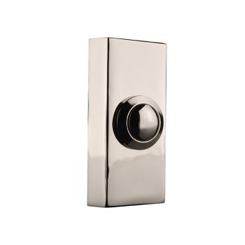 Byron Wired Doorbell Additional Chime Bell Push Chrome 2204BC - BYR2204BC