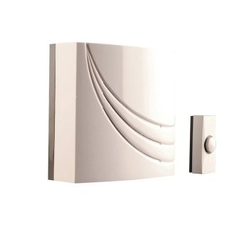 Byron Wired Wall Mounted Electronic Doorbell with 8 Melodies - BYR761