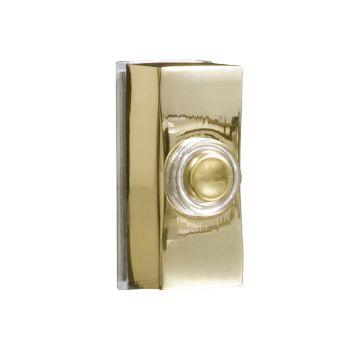 Byron Wired Doorbell Additional Chime Bell Push Brass 7960B - BYR7960B