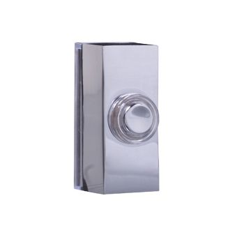 Byron Wired Doorbell Additional Chime Bell Push Chrome 7960C - BYR7960C