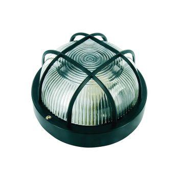 Byron Black Plastic Bulkhead Light - No Bulb - BYRBE100Z