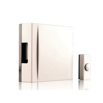 Byron Wired Wall Mounted Doorbell Kit with Bell Push, Wire & Fixings - BYRBQ20720