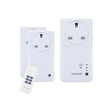 Byron SmartHome Remote Control WIFI Socket Set With App 3 Piece - BYRSH5SETGW