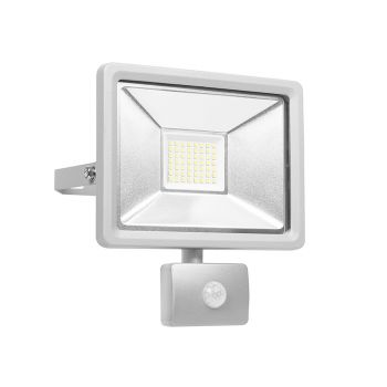 Byron Ultra Slim Integrated LED Floodlight With Sensor 30 Watt 2500 Lumen - BYRSL1DOB30