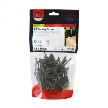 Timco C2 Advanced Decking Timber Screws - TX - Countersunk - Exterior - Green - Bag