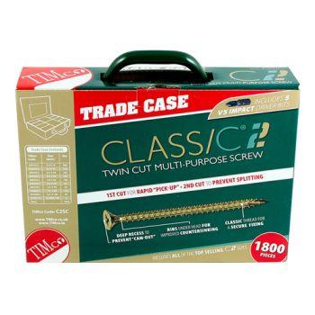 Timco Multi-Purpose Advanced Screws - Assorted Trade Case - PZ -Double Countersunk - Yellow - 1800 pcs
