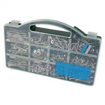 Timco Classic Multi-Purpose Screws - Mixed Tray - PZ - Double Countersunk - Stainless Steel - 895 Pcs