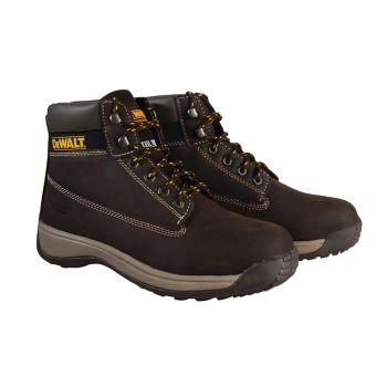 DEWALT Apprentice Hiker Brown Nubuck Boots UK 9 Euro 43 - DEWAPPREN9B
