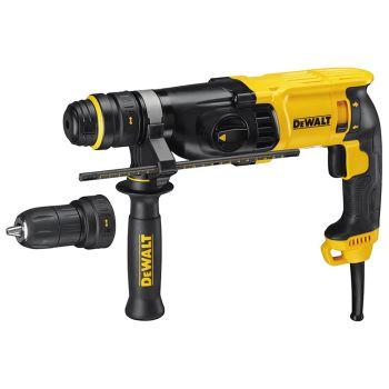 DEWALT SDS Plus 3 Mode QCC Hammer Drill 800W 110V - DEWD25134KL