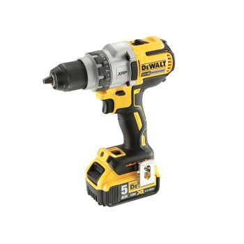 DEWALT Brushless 3 Speed Drill Driver 18V 2 x 5.0Ah Li-Ion - DEWDCD991P2