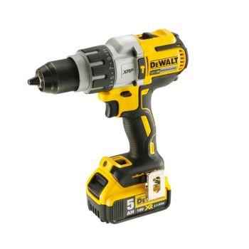 DEWALT XR Brushless Combi Drill 18V 2 x 5.0Ah Li-Ion - DEWDCD996P2