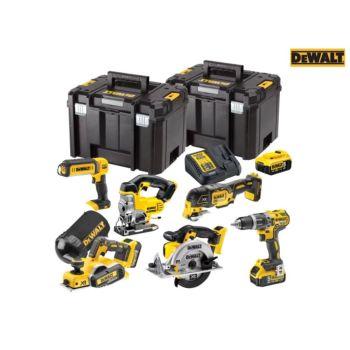 DEWALT XR Compact 6 Piece Wood Working Kit 18V 3 x 5.0Ah Li-ion - DEWDCK665P3