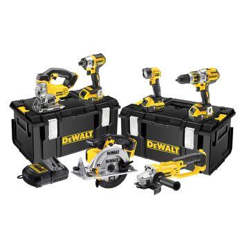 DEWALT Brushless 3 Speed 6 Piece Kit 18V 3 x 5.0Ah Li-ion - DEWDCK694P3
