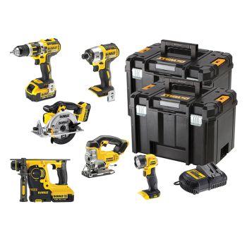 DEWALT XR 6 Piece Kit 18V 3 x 4.0Ah Li-ion - DEWDCK699M3T