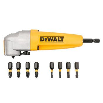 DEWALT Impact Rated Right Angle Drill Bit Holder & 8 Bits - DEWDT70619T