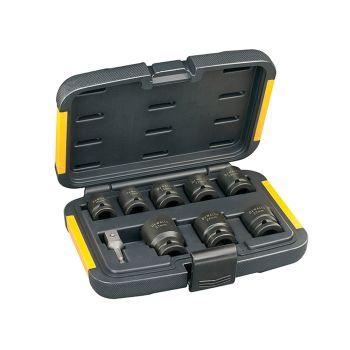 DEWALT Impact Socket Set of 9 Metric 1/2in Drive - DEWDT7507QZ