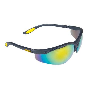 DEWALT Reinforcer Safety Glasses - Fire Mirror - DEWSGRFFM