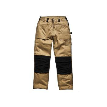 Dickies Trouser Khaki & Black Waist 42in Leg 33in - DIC493042TK