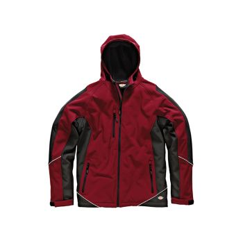 Dickies Two Tone Soft Shell Red / Black Jacket - XL (48-50in) - DIC7010RBXL