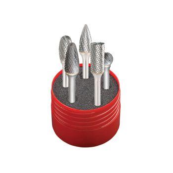 Dormer Solid Carbide Rotary Burr Cylindrical Set 5 Piece - DOR88001