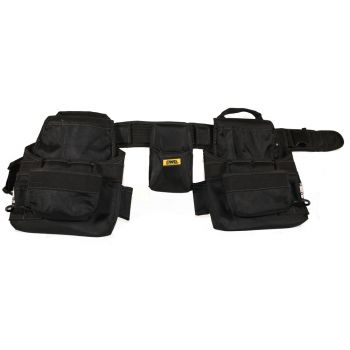 DWG Polyester Black Multi-Pocket Double Work Tool Pouch and Clip Belt - DWGCA100008