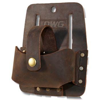 DWG Dark Brown Oil Tan Leather Measuring Tape Belt Holder - DWGMH50001