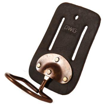 DWG Dark Brown Oil Tan Leather Swinging Hammer Belt Holder - DWGHH50002