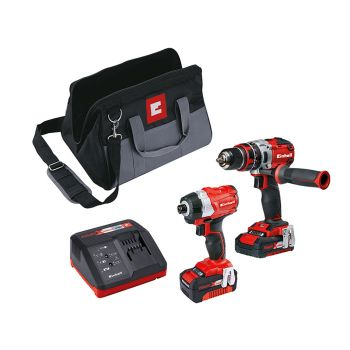 Einhell Power-X-Change Brushless Twin Pack 18V 1 x 2.0Ah & 1 x 4.0Ah Li-ion - EINPXTWINBL