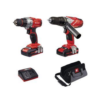 Einhell Power-X-Change Combi & Drill Driver Twin Pack 18V 2 x 1.5Ah Li-ion - EINTECD18TD