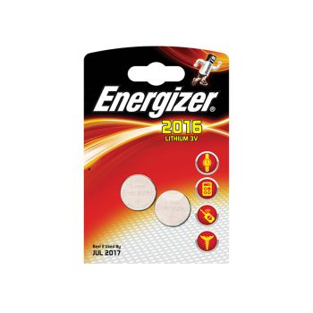 Energizer CR2016 Coin Lithium Battery Pack of 2 - ENG2016B2