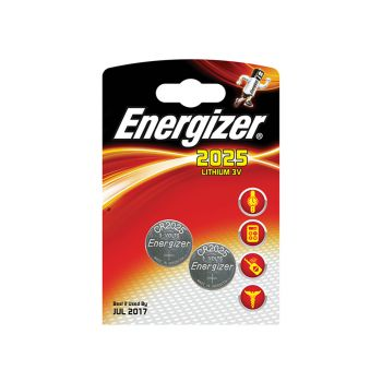 Energizer CR2025 Coin Lithium Battery Pack of 2 - ENG2025B2