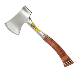 """Estwing Sportsmans 13.5"""" Axe Smooth Face - Leather Grip - E24A"""