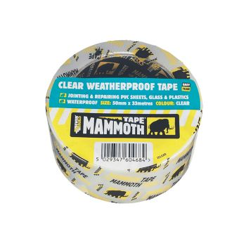 Everbuild Clear Weatherproof Tape 50mm x 10m - EVB2CLEAR10