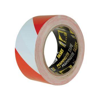Everbuild PVC Hazard Tape Red / White 50mm x 33m - EVB2HAZRD