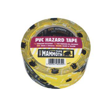 Everbuild PVC Hazard Tape Black / Yellow 50mm x 33m - EVB2HAZYW