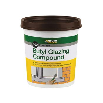 Everbuild 102 Butyl Glazing Compound Brown 2kg - EVBBUTGCB2KG
