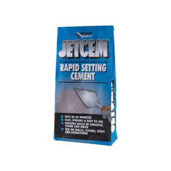 Everbuild Rapid Set Cement 12kg (4 x 3kg Packs) - EVBJETCEM3