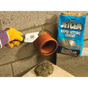 Everbuild Jetcem Rapid Set Cement 12kg (2 x 6kg Pack) - EVBJETCEM6