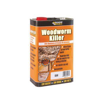 Everbuild Woodworm Killer 5 Litre - EVBLJWORM05