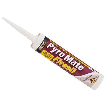 Everbuild Pyro Mate Firesil White 295ml - EVBPRYWE
