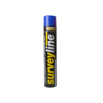 Everbuild Surveyline Marker Spray Blue 700ml - EVBSURVEYBL