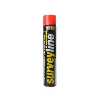 Everbuild Surveyline Marker Spray Red 700ml - EVBSURVEYRE
