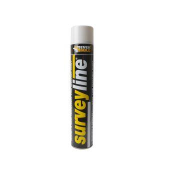 Everbuild Surveyline Marker Spray White 700ml - EVBSURVEYWH